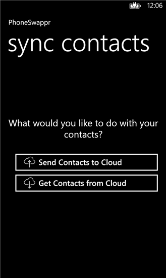 How to transfer contacts from Windows Phone to iPhone(iOS) easily without PC using Phoneswappr