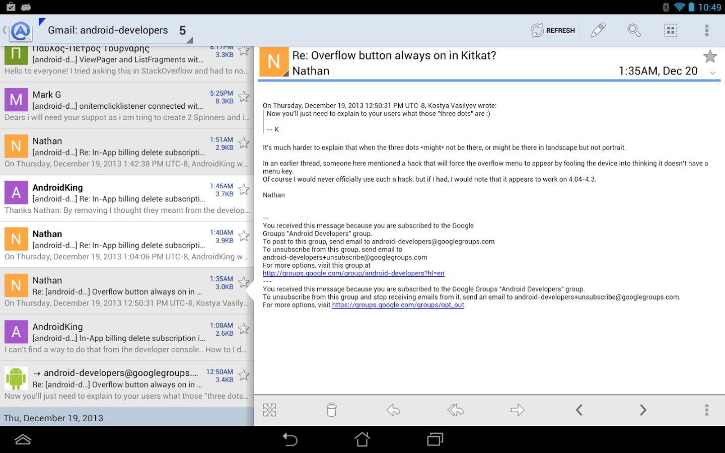 Aqua Mail Pro for Android