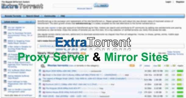 ExtraTorrents Unblocked & Mirror Sites