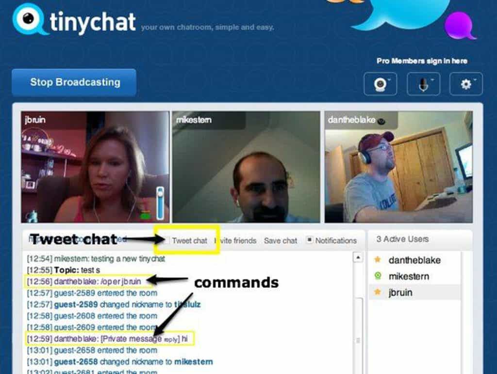 Tinychat sites like Omegle