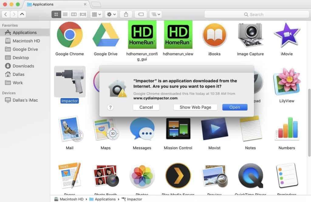 app install cydia impactor
