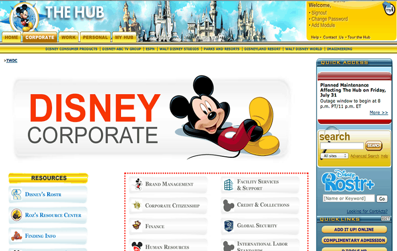 What is Disney Enterprise Portal?