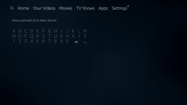hover over search icon