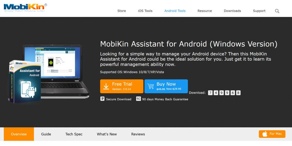 Mobikin: The Best Assistant for Android