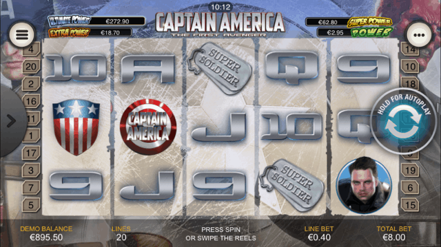 Captain America – the best among slot machines for mobile devices