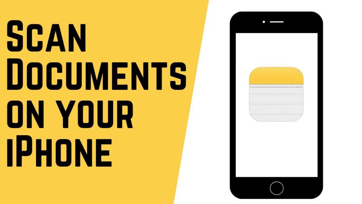How to scan documents with the Notes app?